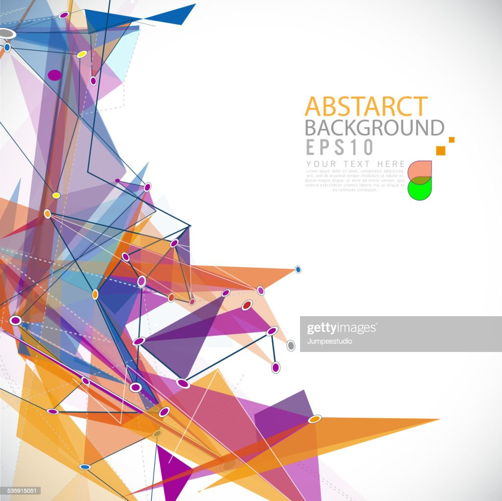 Abstract futuristic mesh colorful background lines and shapesม vector : Vector Art