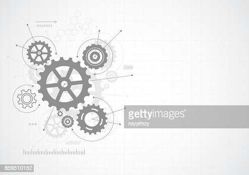Abstract gear wheel mechanism background. Machine technology. Vector illustration : stock vector