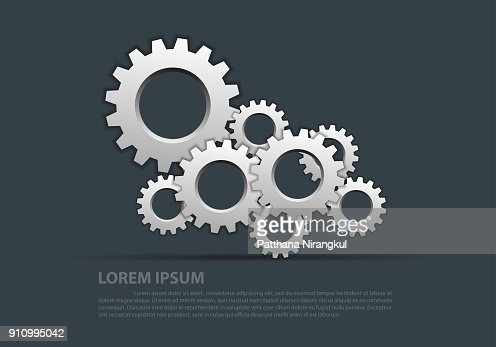 Abstract gears silver overlap on gray design modern industrial futuristic background vector illustration. : stock vector