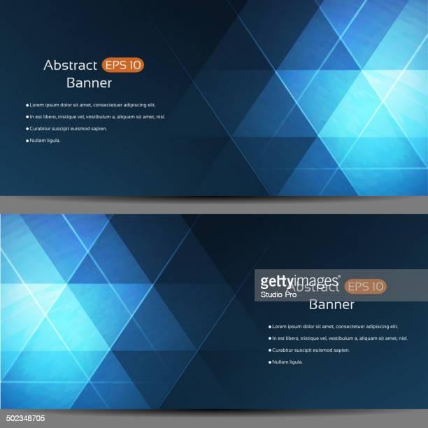 Abstrakte Banner mit geometrischem Muster