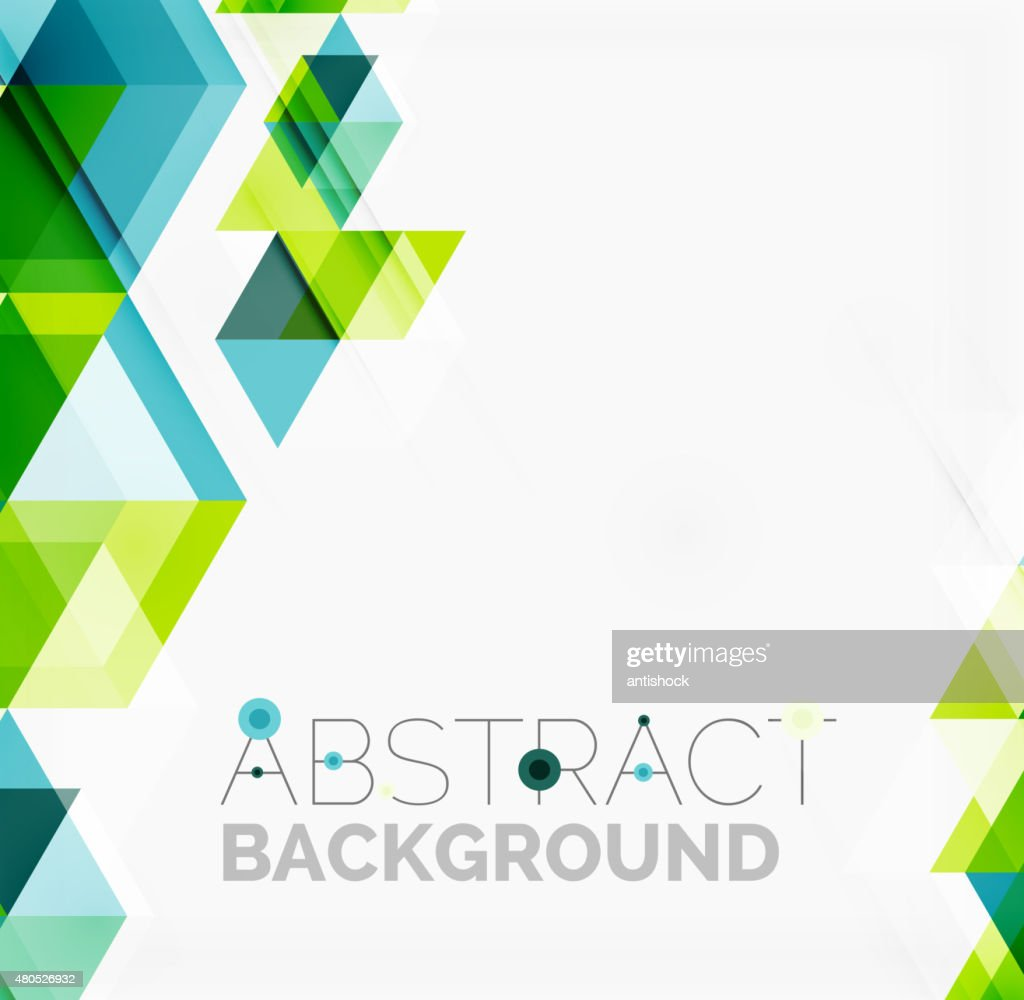 Abstract geometric background. Modern overlapping triangles : Vector Art