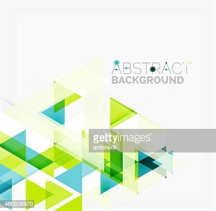 Abstrait géométrique fond.   Superposition moderne de triangles : Clipart vectoriel