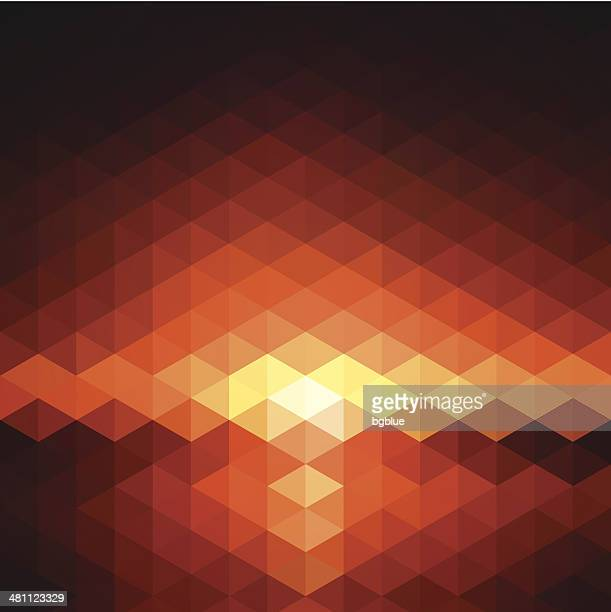 Abstract geometric Background - Sunset sea