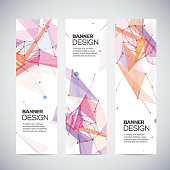 Abstract geometric banner design. Geometric backgrounds. Vector