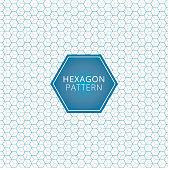 Abstract geometric blue, gray hexagon pattern overlap background. technology elements. Vector illustration