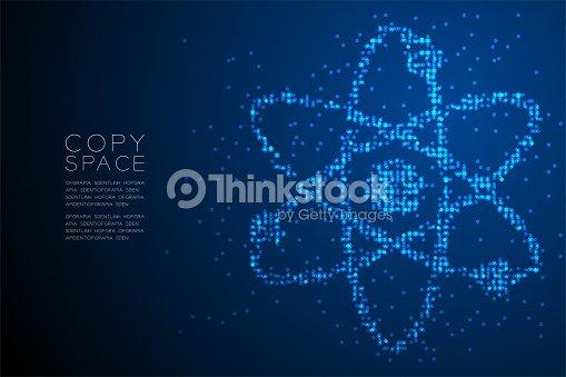 Abstract Geometric Circle Dot Pattern Atom Symbol Shape Science