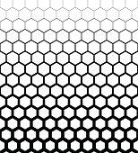 Abstract geometric design halftone seamless pattern. Vector illustration.