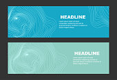 Abstract geometric graphic poster design template composed of lines