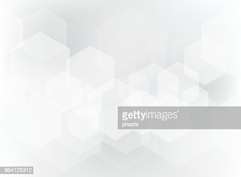 Abstract geometric hexagon overlay pattern on white and gray background. : stock vector