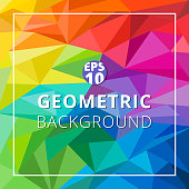 Abstract geometric low polygon colorful background. Triangle pattern texture. Vector illustration