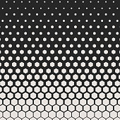 Abstract geometric pattern. Hipster fashion design print hexagonal pattern. White honeycombs on a black background. Vector.