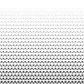 Abstract geometric triangle halftone retro vintage seamless pattern. Vector illustration.
