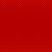 Red abstract geometrical halftone circle pattern background - vector illustration from dots in varying sizes