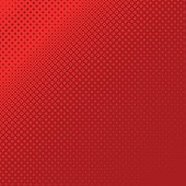 Red abstract geometrical halftone square pattern background - vector design from squares in varying sizes
