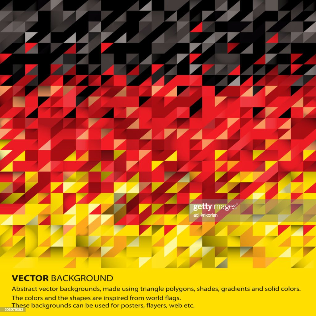 Abstract German Flag, Germany Background (Vector Art) : Vector Art