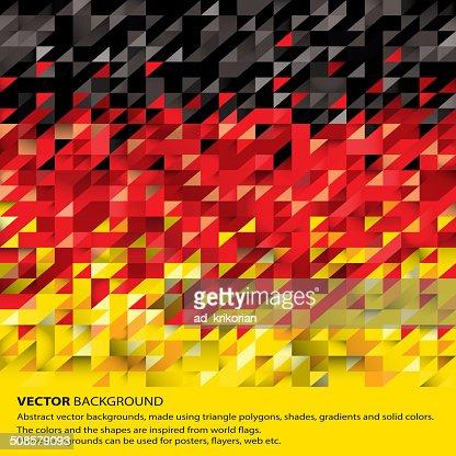 Abstract German Flag, Germany Background (Vector Art) : Vector Art