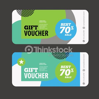 abstract gift voucher or coupon design template vector art thinkstock