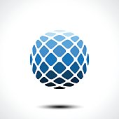 Abstract globe design icon. Vector illustration