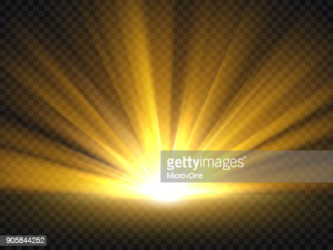 Abstract golden bright light. Gold shine burst vector illustration isolated : stock vector