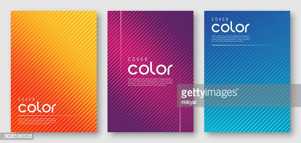 Abstract gradient geometric cover designs : Vector Art