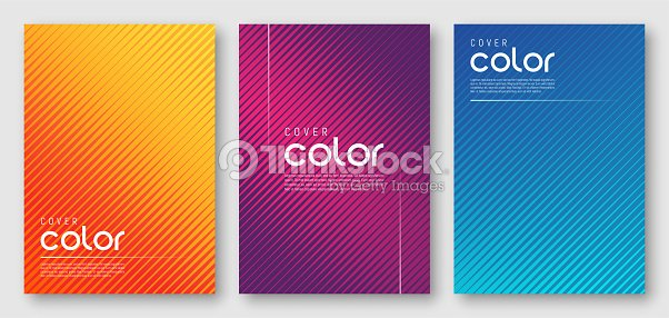 Abstract gradient geometric cover designs : stock vector