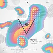 Abstract graphic design, vector illustration.