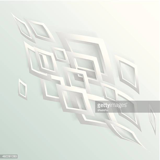 abstract gray 3D rhombus pattern background