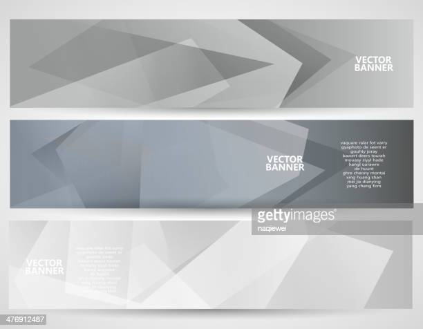 abstract gray transparency pattern banner background