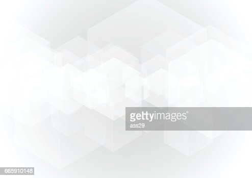 Abstract gray transparent cube background : Arte vettoriale