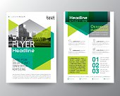 Abstract green geometric background for Poster Brochure Flyer design Layout vector template
