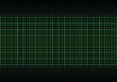 Abstract green plotting graph grid background