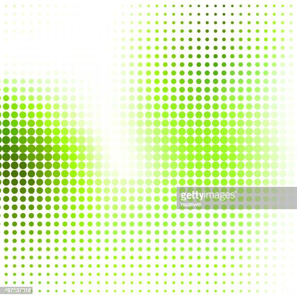 abstract green polka dot pattern background