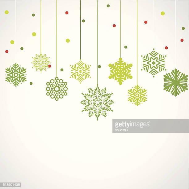 Abstrakt Grün Hintergrund mit Schneeflocken-Muster