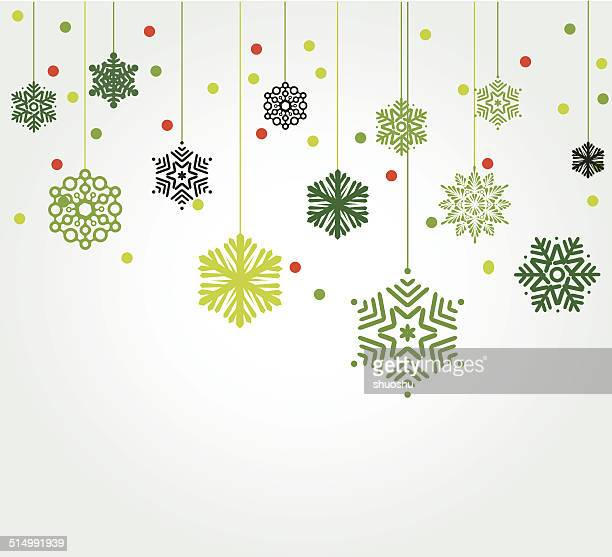 abstract green snowflake pattern background