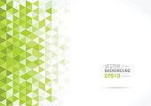 Abstract Green triangular pattern