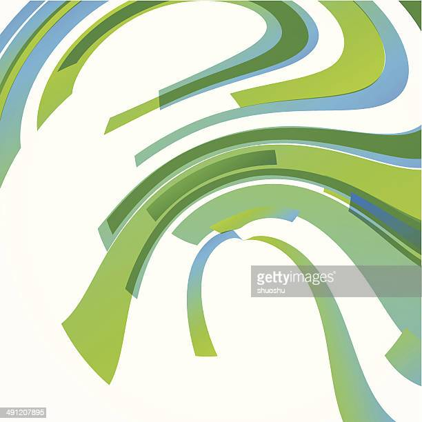 abstract green with blue wave stripe pattern background