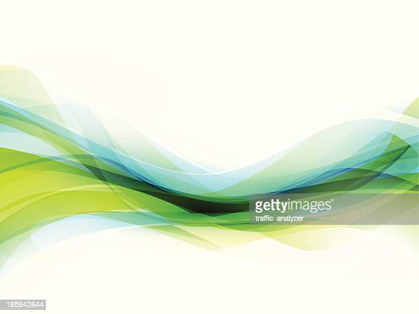 Abstract green/blue lines
