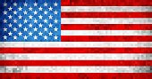 Abstract grunge mosaic USA flag - Illustration,  USA flag pictures and vector
