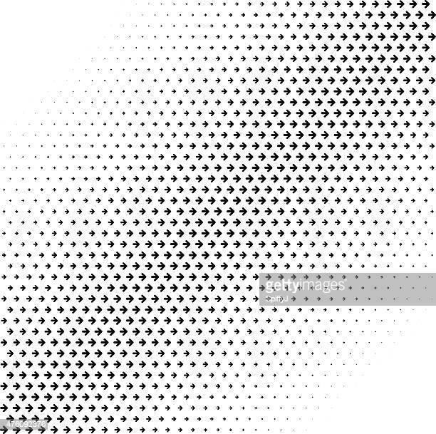 Abstrakte Halbton Pfeile Hintergrund