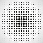 Abstract, circle, dot, halftone, black, background