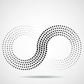 Abstract, sign, dot, infinity, logo, black