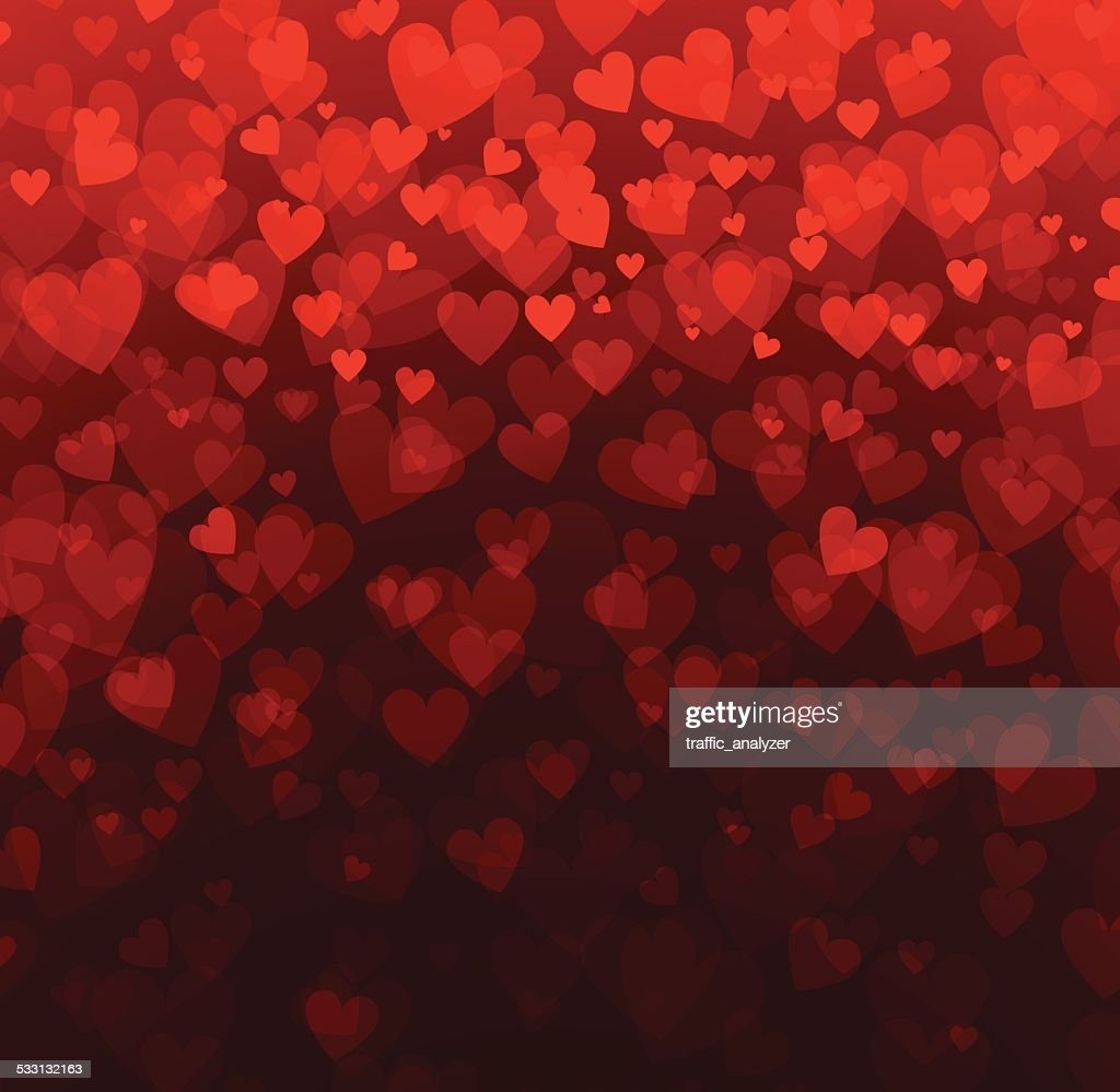 Abstract hearts background : Vector Art