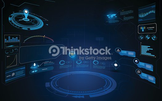 abstract hud interface ui dynamic design innovation concept template