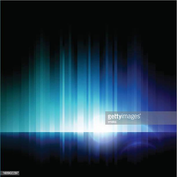 Abstract image of blue lights on a black background