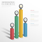 abstract infographic template design with bar chart element