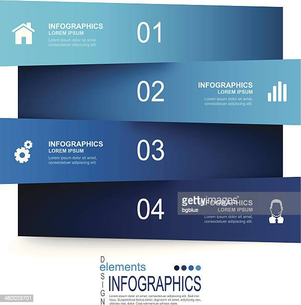 Abstract infographics template and paper elements