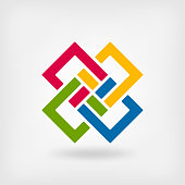 abstract interlocking squares. vector illustration - eps 10