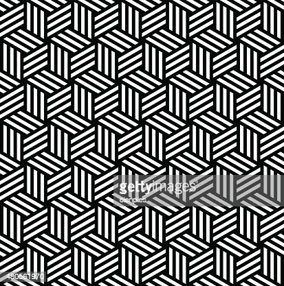 Abstract isometric 3d cube pattern background : Vector Art