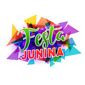 abstract festa junina background design
