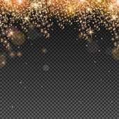 Abstract Light Overlay Effect on Transparent Background. Vector Illustration. Bokeh and Sparkles.